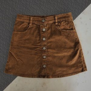 ☆SALE☆ BRANDY MELVILLE Brown Suede Button-Up Skirt